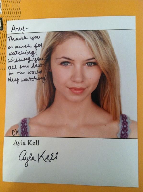 Ayla Kell  Amy's Autographs